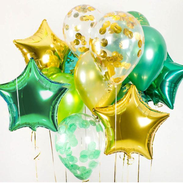 Композиции с фольгированными шарами